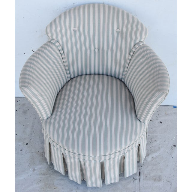 Vintage Scalamandre Upholstered Vanity Accent Side Chair For Sale - Image 10 of 12