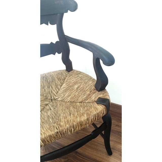 19th Century Set of Four Armchairs with Straw Seat For Sale - Image 10 of 11