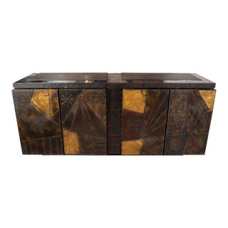 Vintage Model Pe-40a Brutalist Patchwork Cabinet For Sale