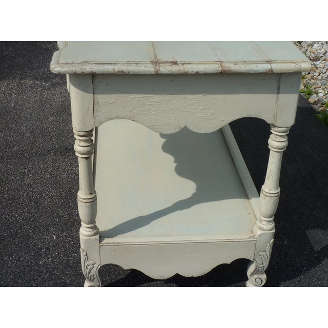 French Country French Country Frieze Decorated Server For Sale - Image 3 of 4