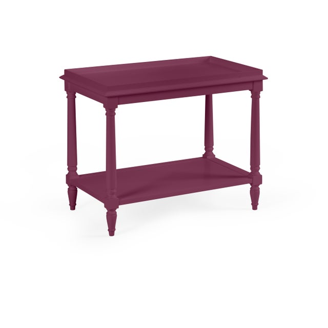 Transitional Casa Cosima Revere Side Table, Grape Juice For Sale - Image 3 of 3