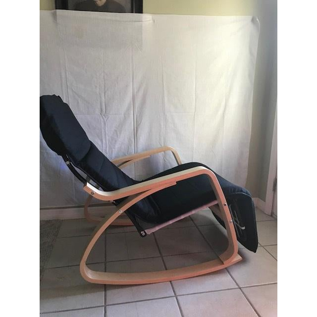 Chaise Lounge- Bentwood, Rocker With Adjustable Footrest - Image 4 of 7