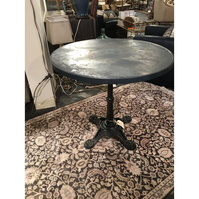 French Zinc Top Bistro Table For Sale - Image 9 of 12