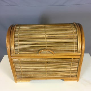 Vintage Rattan Domed Top Storage Box Preview