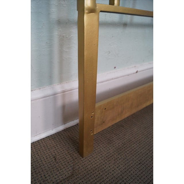 Mid-Century Gold Painted Metal Queen Headboard - Image 7 of 10