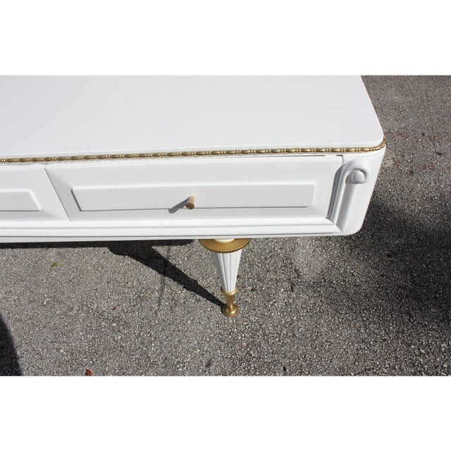 1940s French 4-Drawer Snow White Sideboard Buffet For Sale - Image 9 of 12