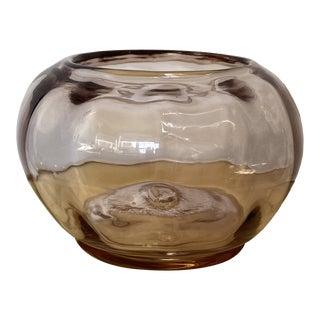 Vintage Blenko Handmade Glass Bowl For Sale