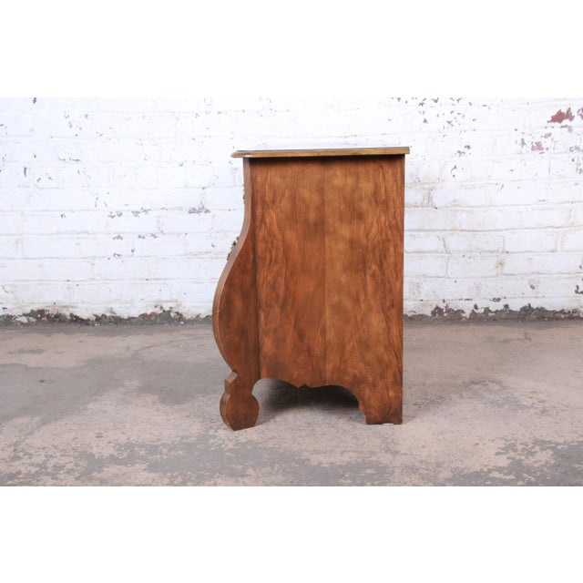 Baker Furniture Burled Walnut Bombay Chest Commode For Sale - Image 10 of 13