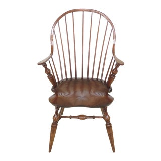 1990s Vintage Bidelin Continuous Windsor Arm Chair For Sale