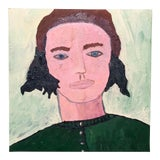 Image of Contemporary Oil Portrait by Virginia Chamlee For Sale