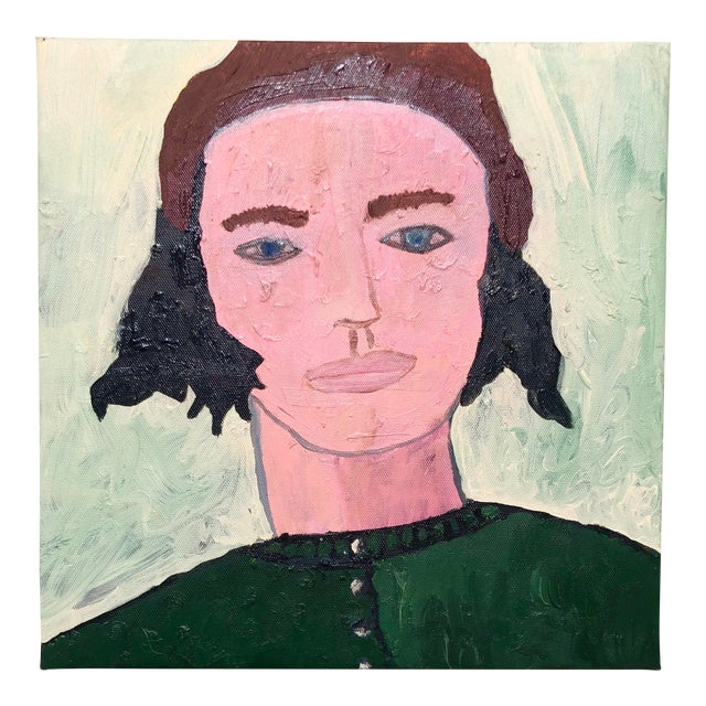 Contemporary Oil Portrait by Virginia Chamlee For Sale