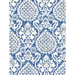 Sample, Scalamandre Surat Embroidery, Porcelain Fabric For Sale