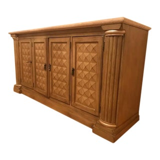 Traditional Drexel Heritage Corbel Collection Credenza With Stone Top For Sale
