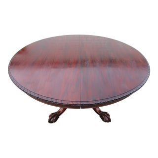 Traditional Round Mahogany Split Pedestal Dining Table For Sale