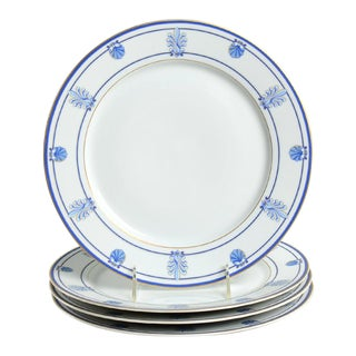 Tiffany Shell & Thread (Limoges) Dinner Plate Set/4 For Sale