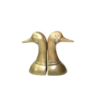 Vintage Brass Duck Bookends - Set of 2 For Sale