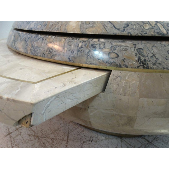 1970 Maitland-Smith Tessellated Marble Expandable Coffee Table - Image 8 of 8