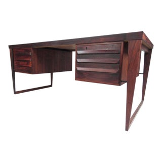 Kai Kristiansen Rosewood Executive Desk For Sale