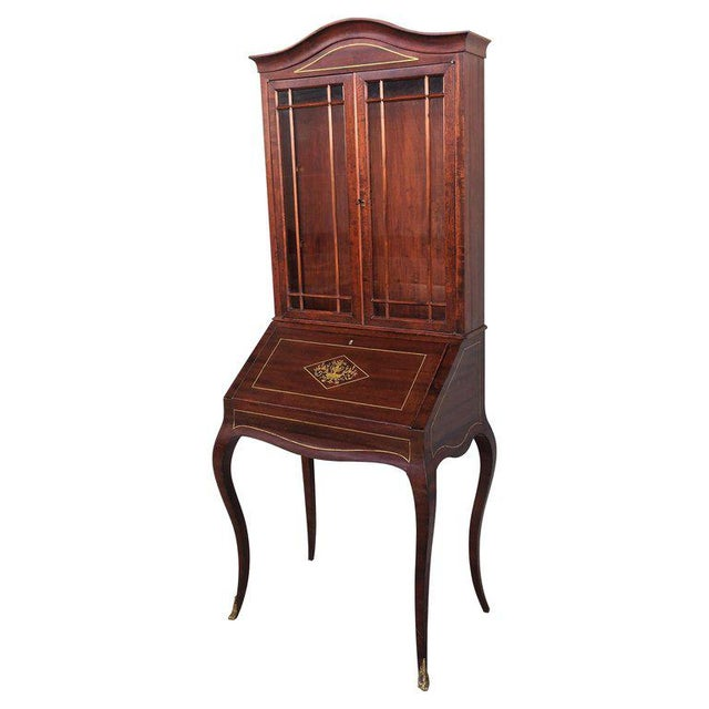 18th Century Louis XVI Style French Inlaid Secretary Desk For Sale - Image 13 of 13