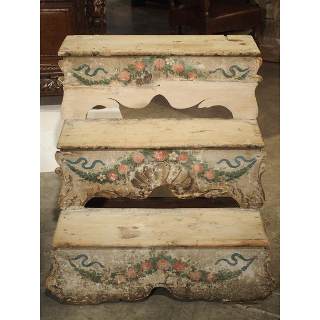 Antique Venetian Poplar Wood Library Stairs, Circa 1750 For Sale In Dallas - Image 6 of 13
