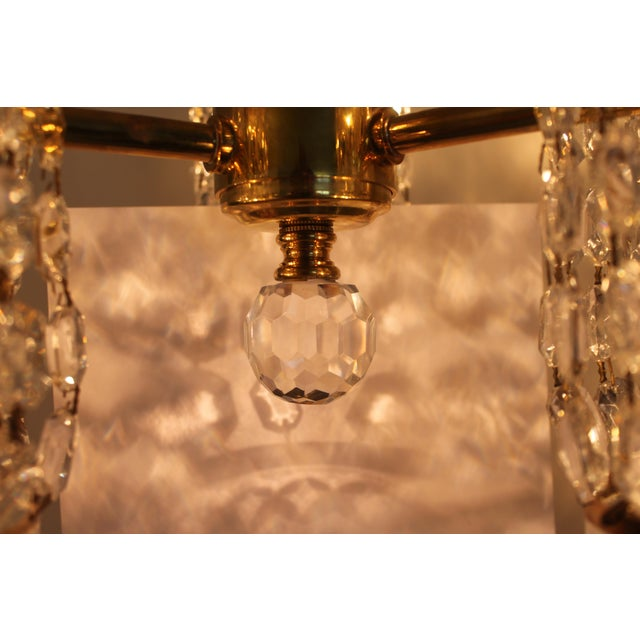Mid-Century Authentic Crystal Signed Chandelier by Waterford Circa 1960's For Sale - Image 11 of 11