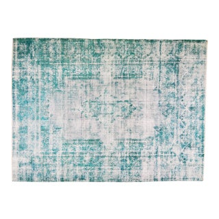 """Vintage Persian Kerman Hand Knotted Fine Woven Organic Wool Overdyed Rug,9'1""""x12'4"""" For Sale"""