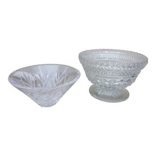 Waterford Crystal Serving Dishes - Set of 2 For Sale