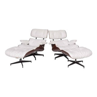 """Pair of 1970s Herman Miller """"Eames"""" Chair and Ottoman by Charles Eames"""