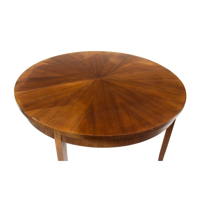 Wood Round Dining Table by t.h. Robsjohn-Gibbings for Widdicomb, Model 4322 For Sale - Image 7 of 12