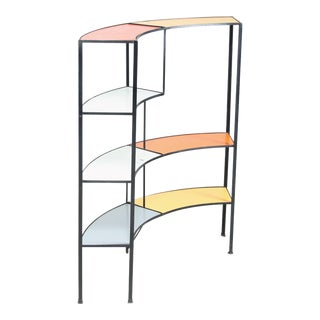 Fredric Weinberg E-Shaped, Coloured Shelf Unit For Sale
