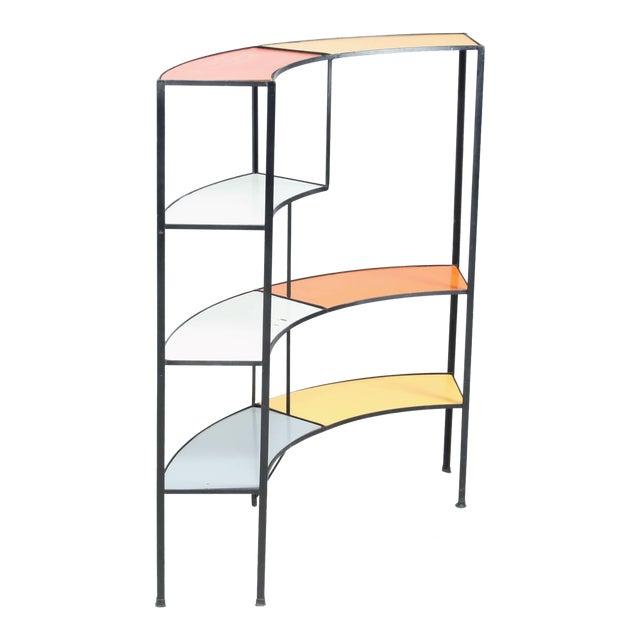 Image of Fredric Weinberg E-Shaped, Coloured Shelf Unit
