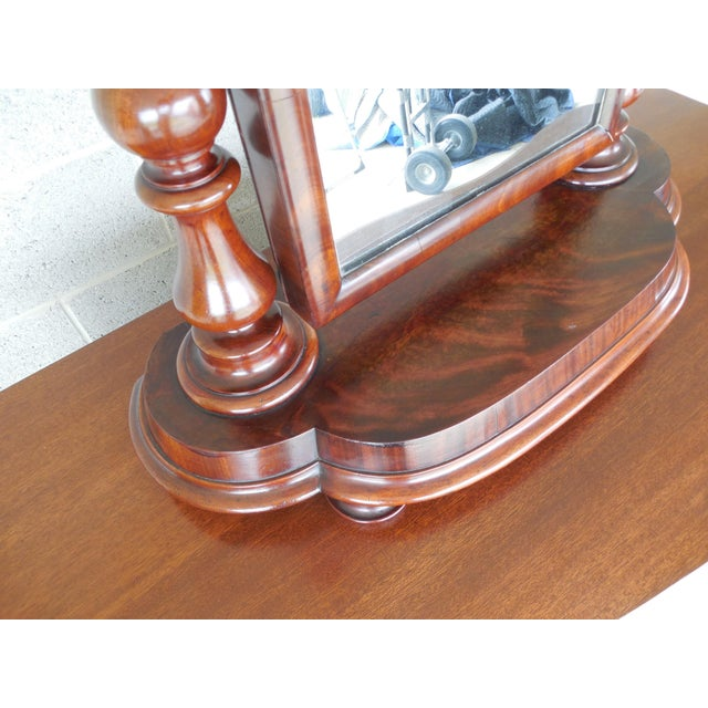 Mid 19th Century Antique Empire Period Mahogany Dressing Mirror For Sale - Image 5 of 13