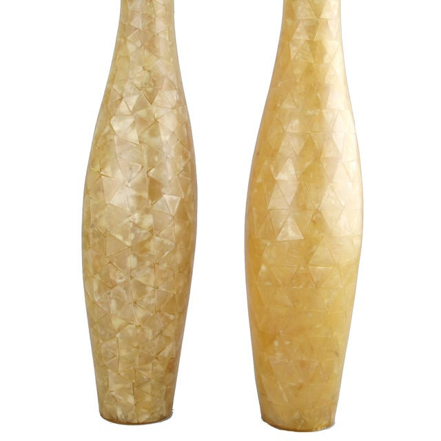Capiz Shell Vases - A Pair - Image 2 of 9