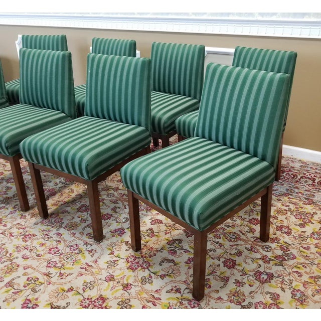 1970s directional contract furniture green striped for 1970 dining room set