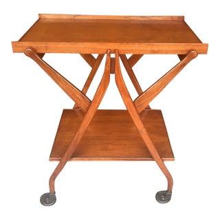 Kipp Stewart for Drexel Walnut Bar Cart