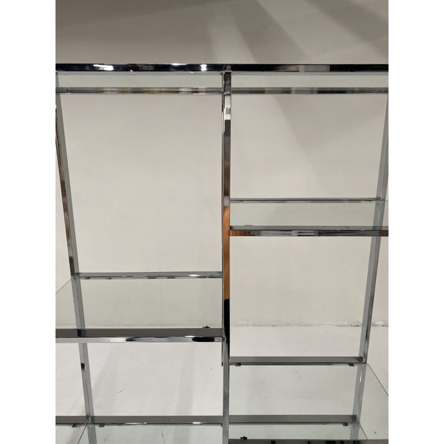 1970s Milo Baughman Style Chrome Etagere For Sale - Image 9 of 13