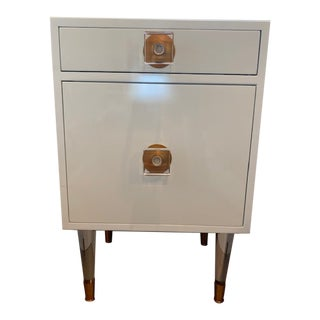 White Anthropologie Nightstand-a Pair For Sale