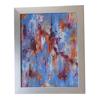 Blue Abstract Skyscape Painting by C. Plowden