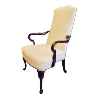 "Hickory Chair ""Gooseneck"" Armchair For Sale"