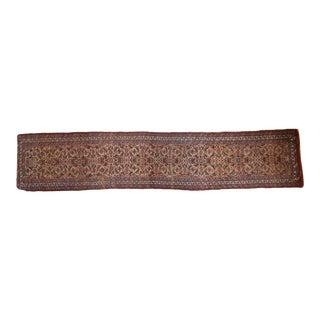"""Antique Bijar Rug Runner - 3' X 14'6"""" For Sale"""