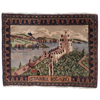 Postcard Rug from Istanbul For Sale