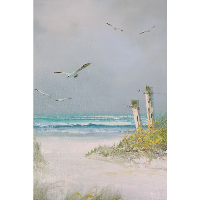 American Signed Original Seascape Oil Painting by Catherine Parker Melton For Sale - Image 3 of 5