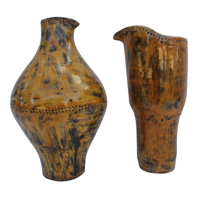 Vintage Decorative Studio Pottery Vases - A Pair - Image 1 of 10