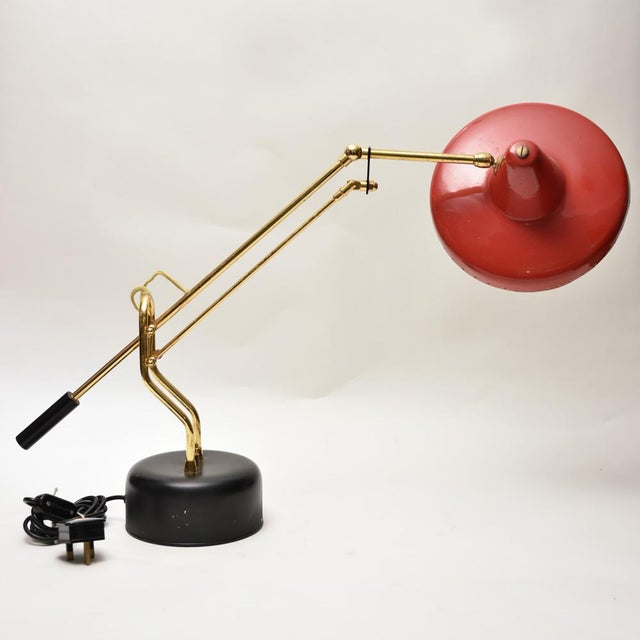 1950s Stilnovo Brass Desk Lamp For Sale - Image 6 of 8