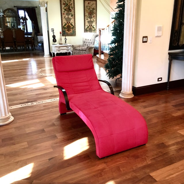 Dania Red Giselle Chaise Lounge - Image 5 of 6