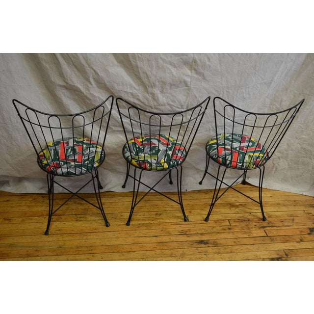 Salterini Vintage Patio Chairs - Set of 3 - Image 4 of 8