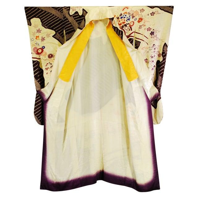 Vintage Silk Traditional Furisode Kimono - Image 1 of 9