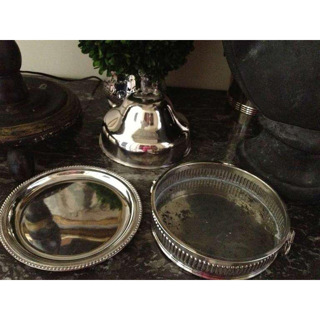 English Traditional Pair of Silver Sheffield Food Warmers For Sale - Image 3 of 9
