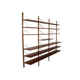Mid Century Cado Shelving System Wall Unit by Cadovius For Sale
