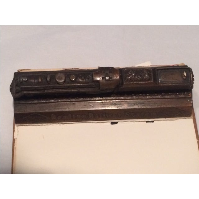 Mid-Century Modern Vintage Reading Railway Advertising Desk Pad For Sale - Image 3 of 9